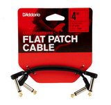 D'Addario Flat Patch Cables Matching Right-Angle, 4 inches