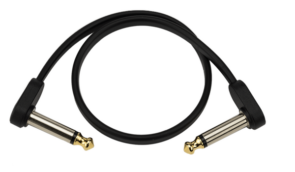 D'Addario Flat Patch Cables Matching Right-Angle, 1ft