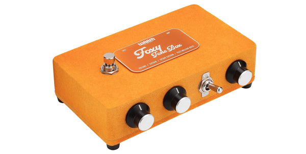 Warm Audio Foxy Tone Box Pedal For Fuzz Distortion + 9V Adapter