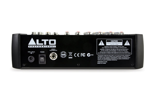 Alto ZMX122 8-Channel Compact Mixer with Effects