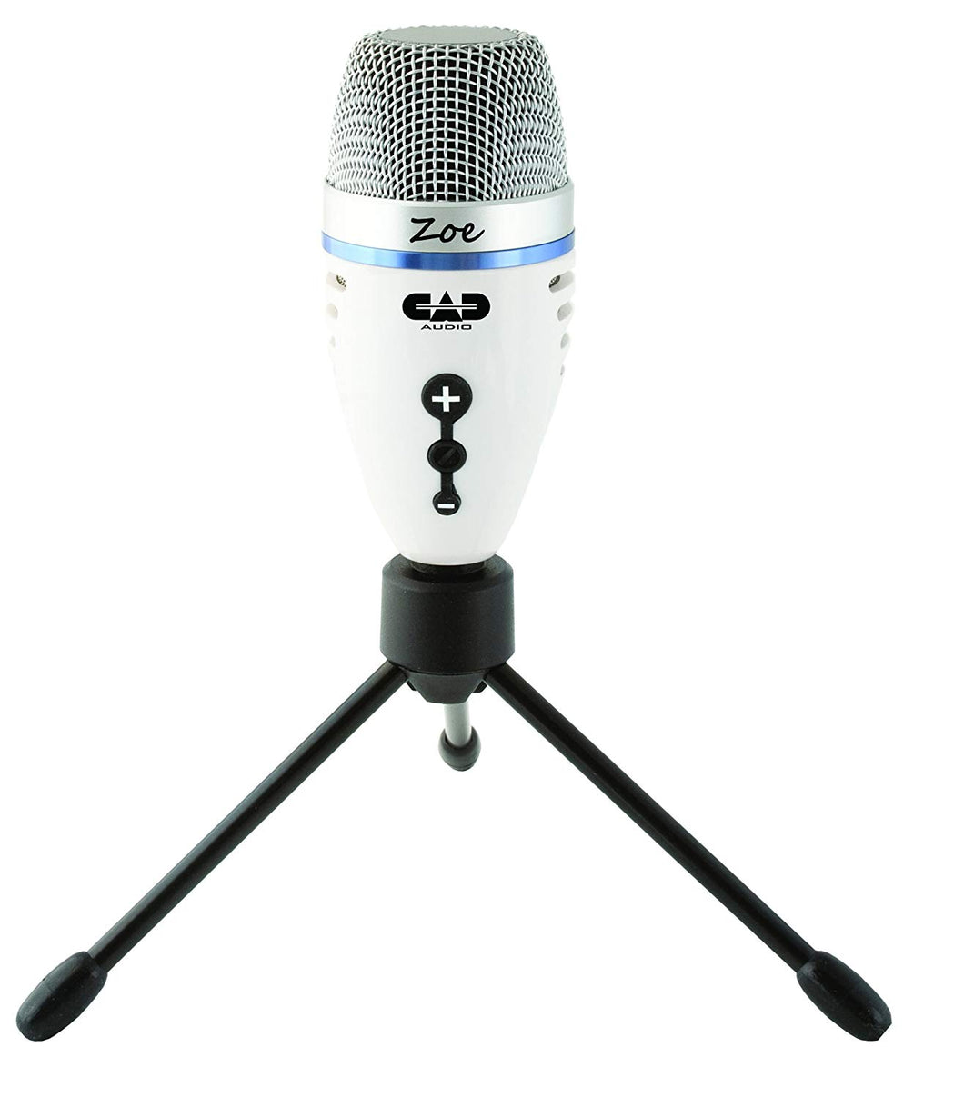 CAD Zoe USB Condenser Recording Microphone with TrakMix Headphone Output