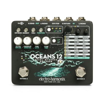 EHX Oceans 12 Dual Stereo Reverb