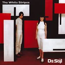 VINYL WHITE STRIPES DE STIJL