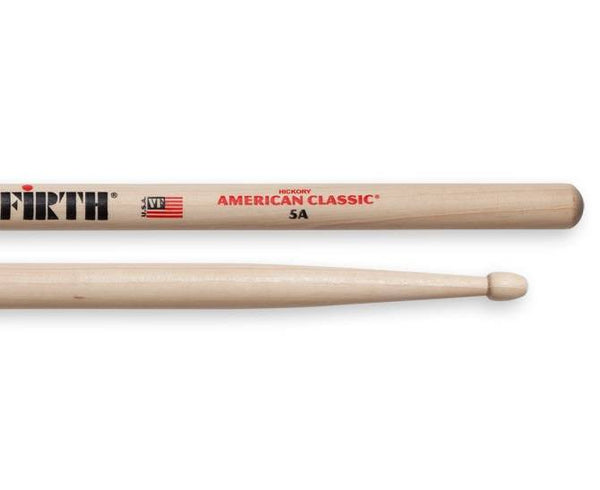 Vic Firth 5A American Classic Drumsticks (Hickory/Wood Tip)