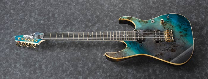 Ibanez RG Premium w/ Bare Knuckle P/Ups & Gigbag - Tropical Sea Floor
