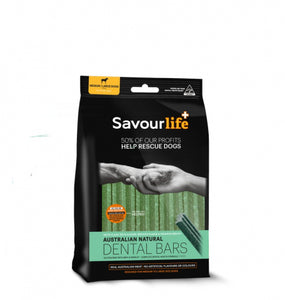 SavourLife Natural Dental Bars Medium/Large (5pk) (232g) - PuppyGoGo Market