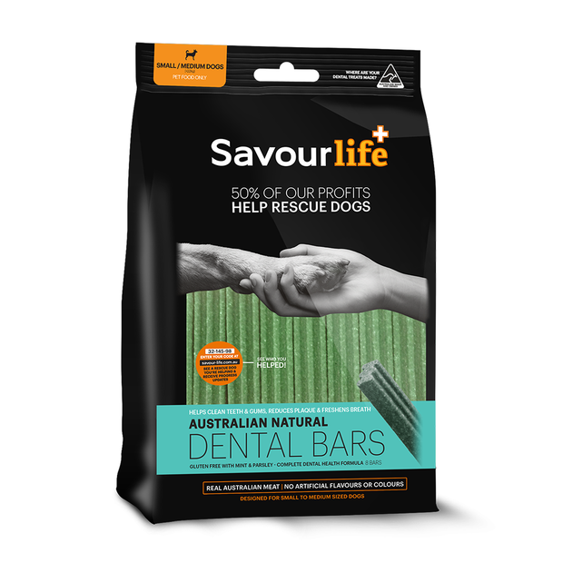 SavourLife Dental Bars Small/Medium (8pk) (232g) - PuppyGoGo Market