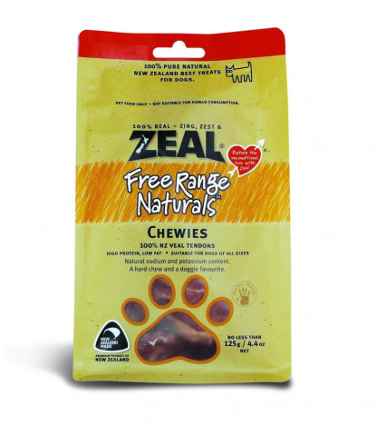 Zeal Free Range Naturals Chewies Veal Tendons (125g) - PuppyGoGo Market