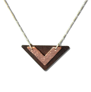 Antique Tin and Copper Cecile necklace.