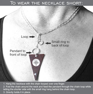 Instructions on how to wear the Vintage Victoria necklace short