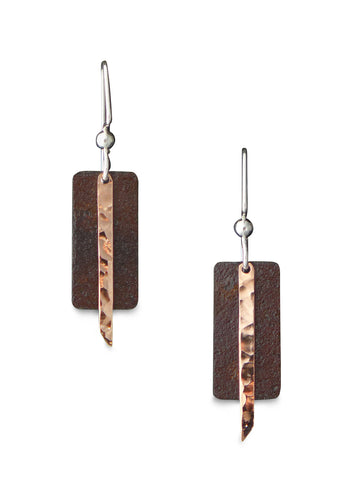 Antique Tin and Copper Jean earrings.