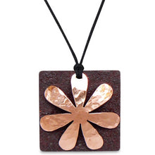 Antique Tin and Copper Flora necklace.