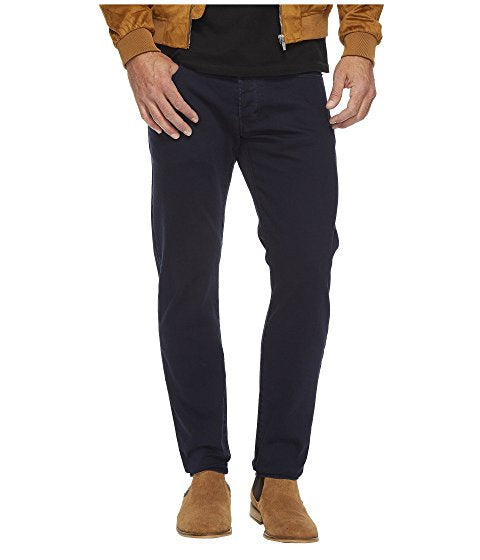 Deconstructed Slim Colored Jeans in Dark Naval Blue