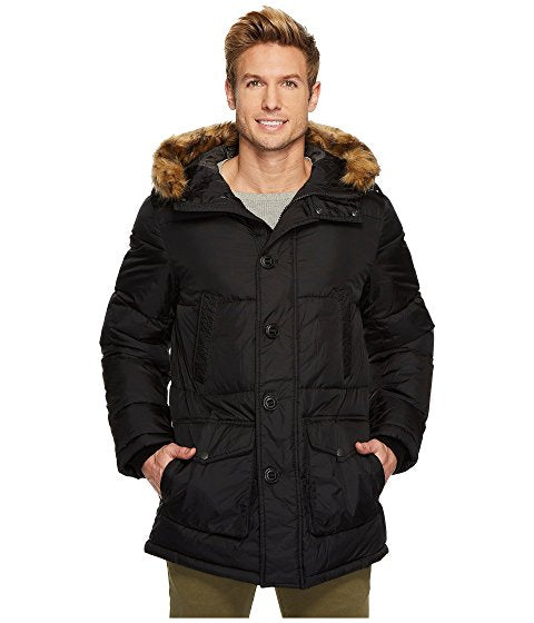 Nylon Long Hooded Parka