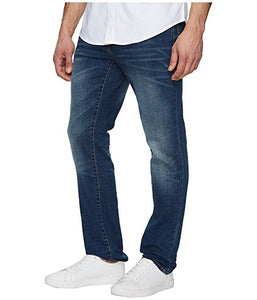 Five-Pocket Slim Straight Jeans in Medium Wash
