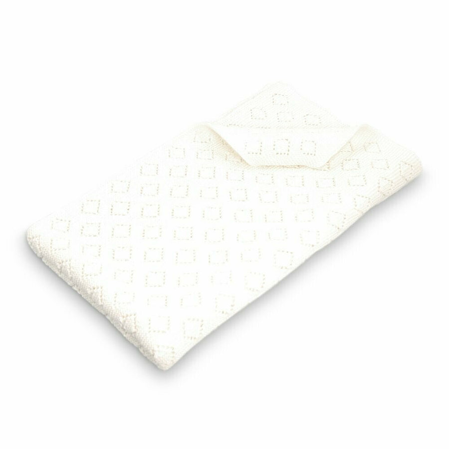 Diamond Knitted Baby Blanket / Milo