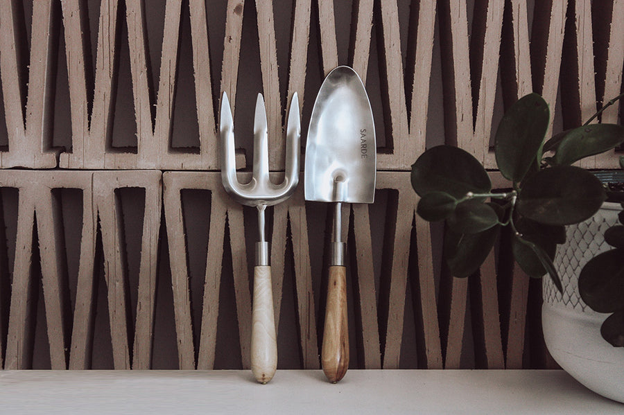 Garden Tool Set / Steel + Timber