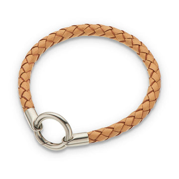 Bracelet / Round Thick Plaited - Leather 20.5CM