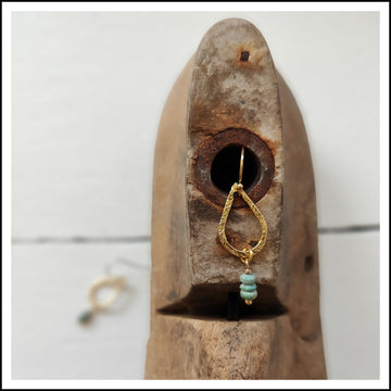 Earrings - Dusted Turquoise Drop