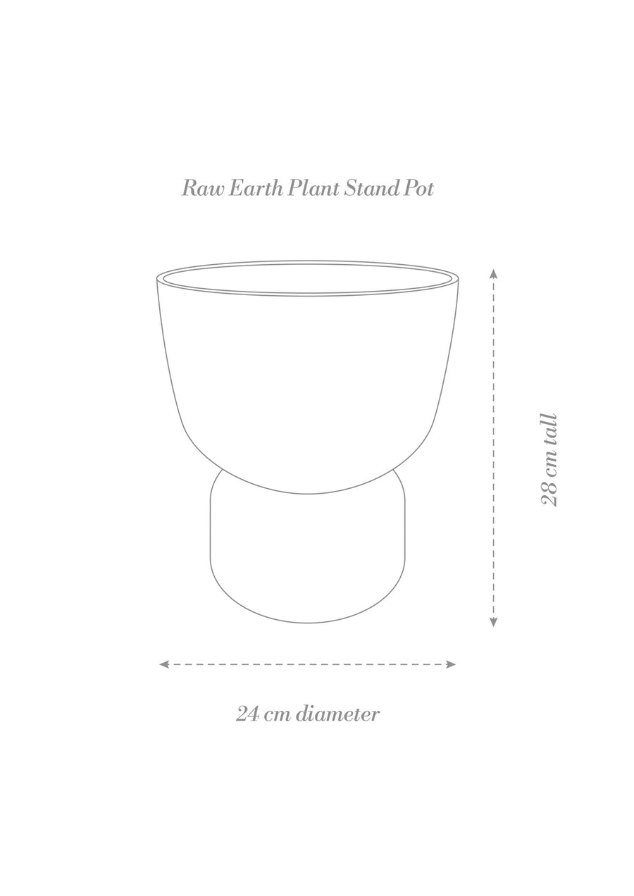 Plant Stand Pot / Raw Earth - Clay