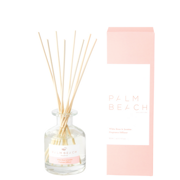 Mini Reed Diffuser / 50ml - White Rose + Jasmine