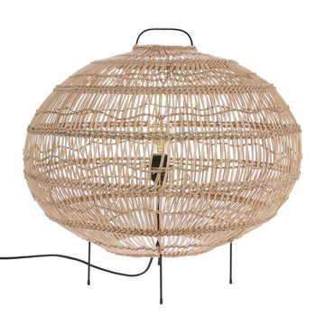 Lamp / Floor - Wicker Oval Shaped