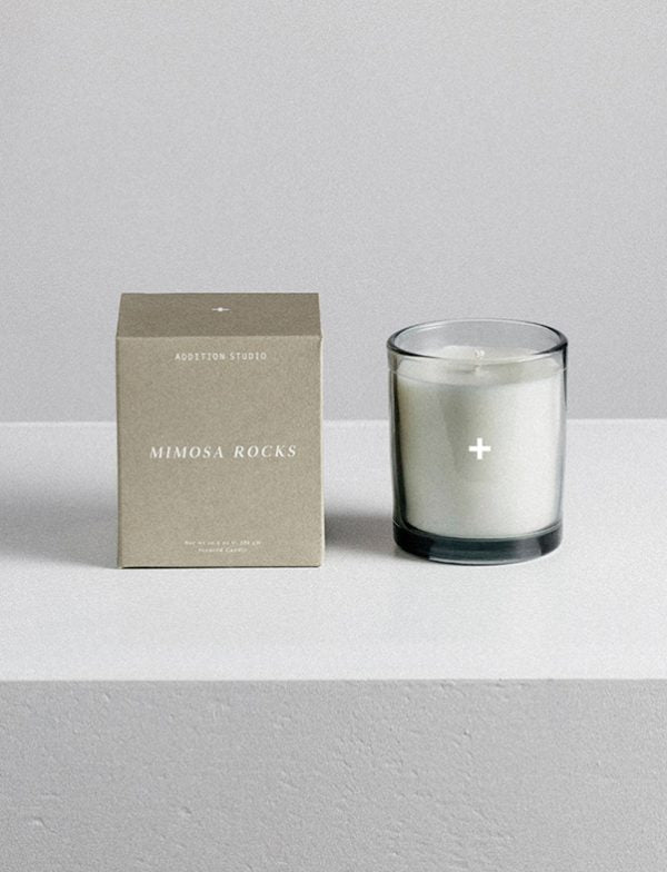 Scented Candle / Mimosa Rocks