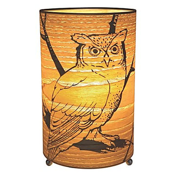 Lamp / Table - Owl Cylinder