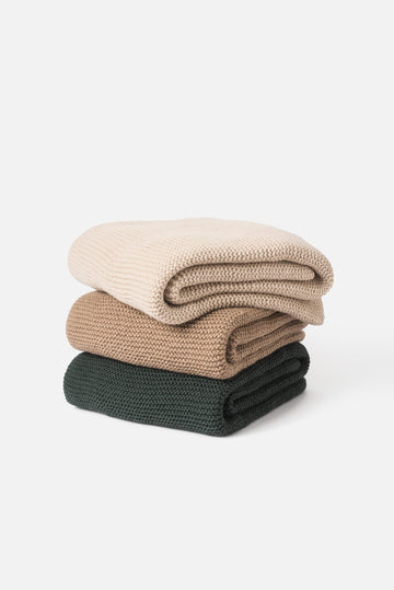 Wool Throw / Knit - Purl