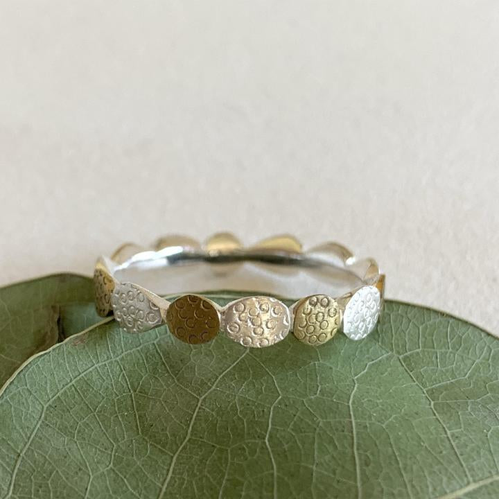 Ring / Sterling Silver & Brass - Multi Oval