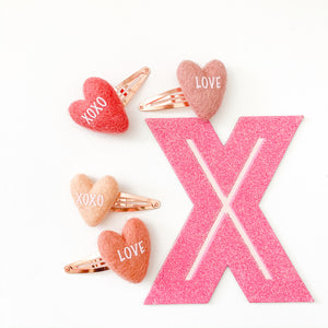 HEART SNAP CLIPS // set of 2