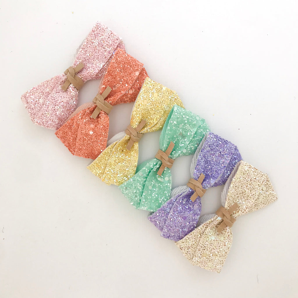 DOLLY BOW // spring glitter set