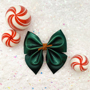 SADIE BOW // shiny emerald