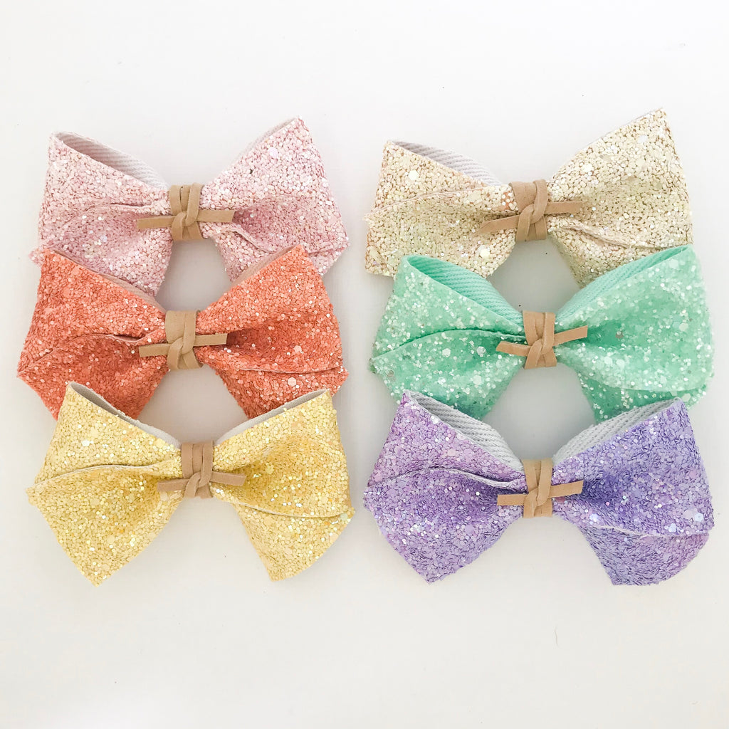 ALICE BOW // spring glitter set