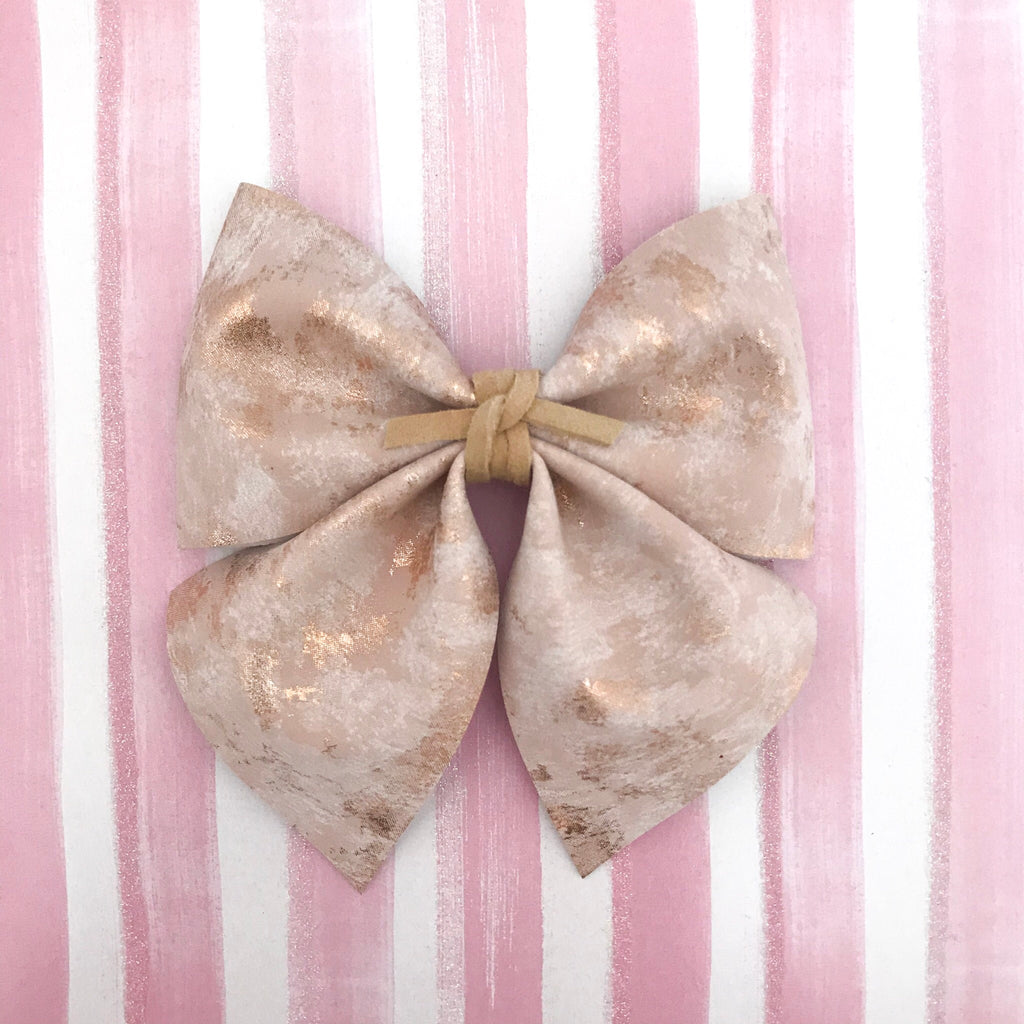SADIE BOW // brushed rose gold