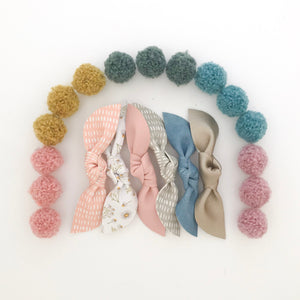 KNOTTIE BOWS // spring colors