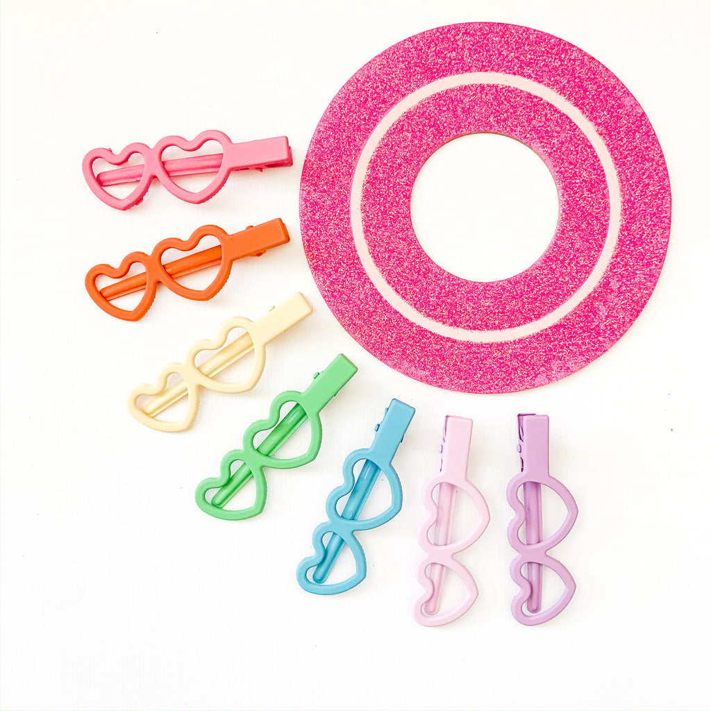 HEART CLIPS // set of 7