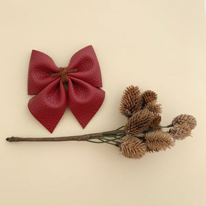 SADIE BOW // cranberry