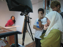 Behind the scene (Makeover for Cosmetic Surgery Magazine)