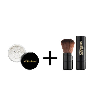 [Fabtober] Premium Mineral Setting Powder + Facebrush