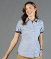 Smith End on End Short Sleeve Womens Shirt-1253whs