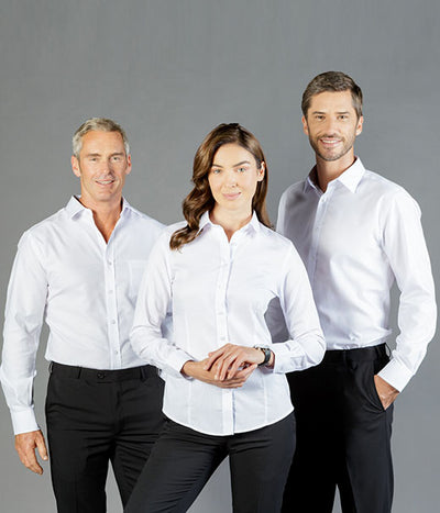 Ultimate White Long Sleeve Womens Shirt - Career Slim Fit