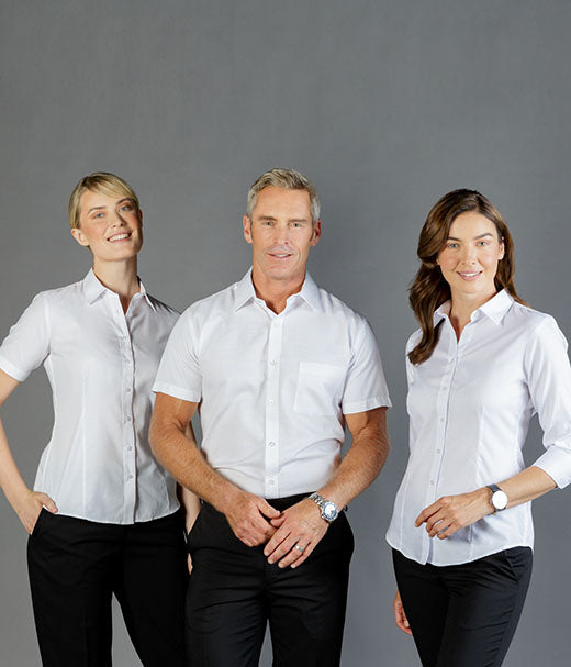 Ultimate White Short Sleeve Womens Shirt - Career Slim Fit-1908ws