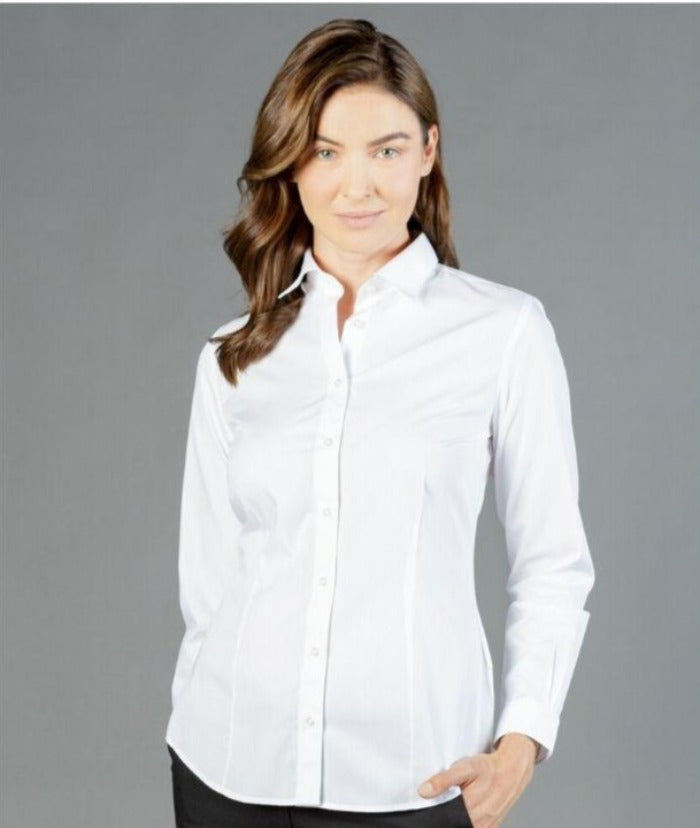 womens-long-sleeve-business-shirts-nz-nicholson-premium-poplin-career-by-gloweave-1520wl