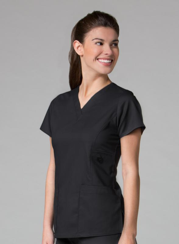 scrub-top-1708-maevn-v-neck