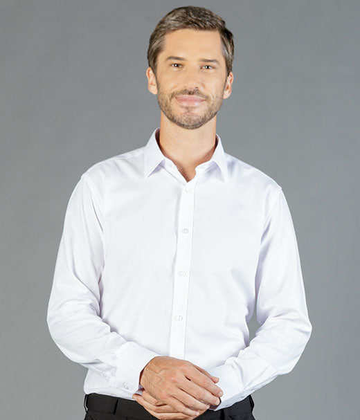Ultimate White Long Sleeve Mens Shirt-1708l