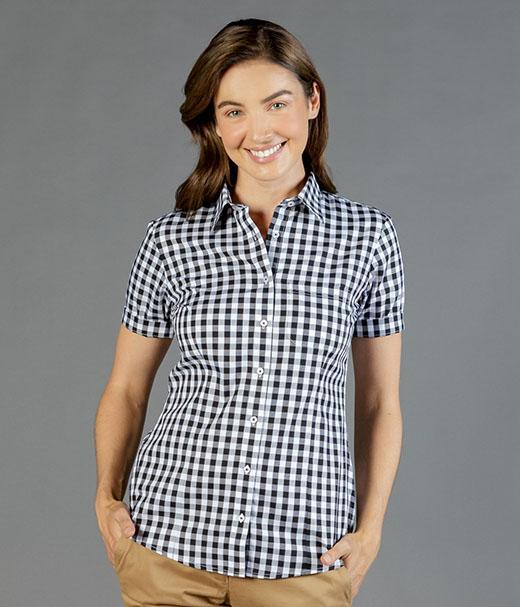 Degraves Royal Oxford Check Short Sleeve Shirt-1710whs