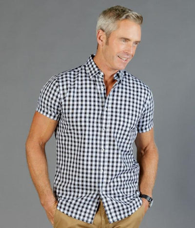 Degraves Royal Oxford Check Short Sleeve Mens Shirt-1710hs