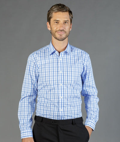 Foxton Tonal Check Long Sleeve Mens Shirt-1711l