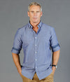Hardware Chambray Dobby Long Sleeve Mens Shirt-1713hl